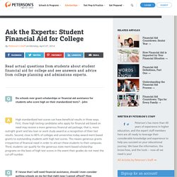 Ask the Experts: Student Financial Aid for College