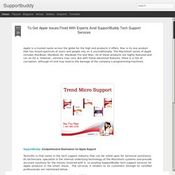 Supportbuddy: To Get Apple Issues Fixed With Experts Avail SupportBuddy Tech Support Services