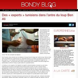Des « experts » tunisiens dans l'antre du loup Ben Ali