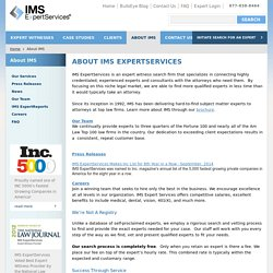 About IMS ExpertServices - An Expert Witness Provider