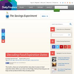 Decoding Food Expiration Dates - DailyFinance Savings Experiment