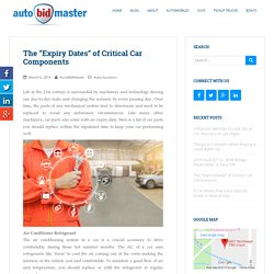"""The """"Expiry Dates"""" of Critical Car Components"""