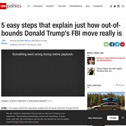 5 easy steps that explain just how out of bounds Donald Trump's FBI move really is