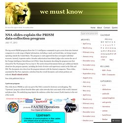 NSA slides explain the PRISM data-collection program