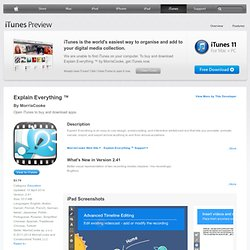 Explain Everything for iPad on the iTunes App Store