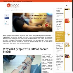 Explained: Why these people cannot donate blood? - AbbloodAbblood