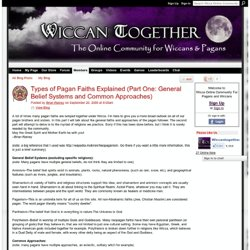 Types of Pagan Faiths