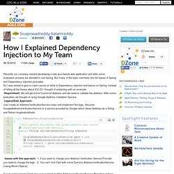 How I Explained Dependency Injection to My Team