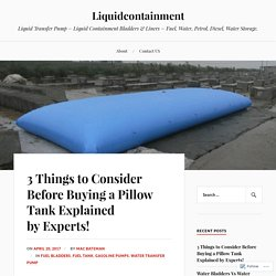 3 Things to Consider Before Buying a Pillow Tank Explained by Experts!