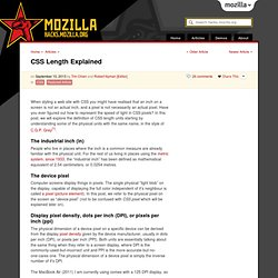 CSS Length Explained