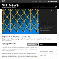 Explained: Neural networks