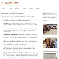Open Space Key Concepts Explained