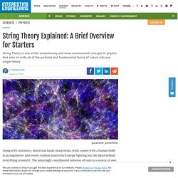 String Theory Explained: A Brief Overview for Starters