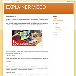 5 Ways Explainer Videos Helps in Consumer Engagement