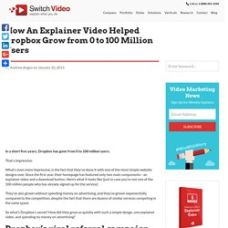 How An Explainer Video Helped Dropbox Grow from 0 to 100 Million Users - Switch Video Blog