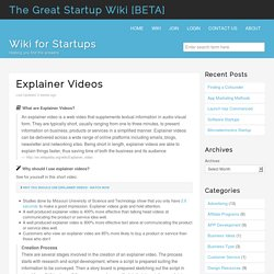 Explainer Videos - The Great Startup Wiki [BETA]The Great Startup Wiki [BETA]