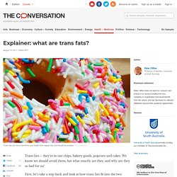 Explainer: what are trans fats?