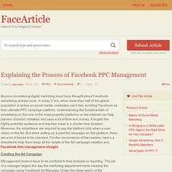 Explaining the Process of Facebook PPC Management