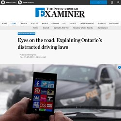 Eyes on the road: Explaining Ontario's distracted driving laws