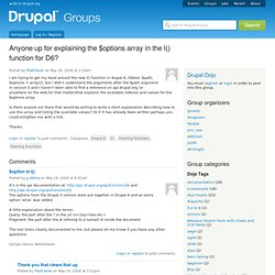 Anyone up for explaining the $options array in the l() function for D6? | groups.drupal.org