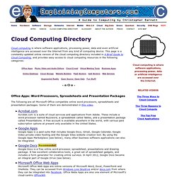 Cloud Computing Directory