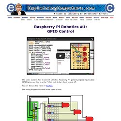 ExplainingComputers.com: Raspberry Pi Robotics