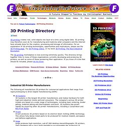 3D Printing Directory