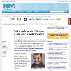 PayPal explains why it's buying mobile wallet provider Paydiant