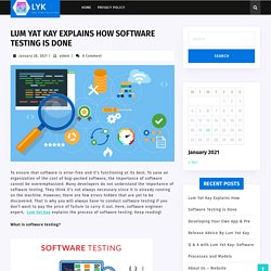 Lum Yat Kay Explains How Software Testing is Done