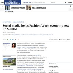 Stackla explains how social media fuels NY Fashion Week related spending - New York Business Journal