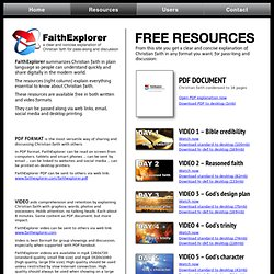 Free resources for explanation of Christian faith / FaithExplorer