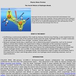 Explanation of a hydrogen bond