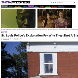 St. Louis Police's Explanation For Why They Shot A Black Teenager Is Falling Apart