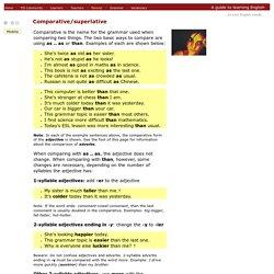 English Grammar Explanations - Comparative/superlative