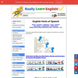 Learn English Parts of Speech - Explanations, Examples and Exercises