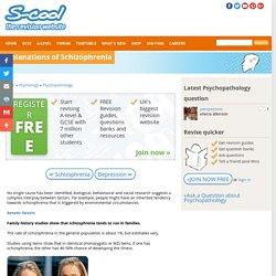 A-level Psychology Psychopathology Revision - Explanations of Schizophrenia