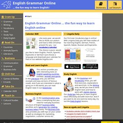 English Grammar Online - free exercises, explanations, vocabular