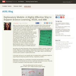 Explanatory Models: A Highly Effective Way to Support Science Learning, NGSS, and MBI