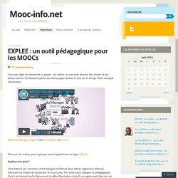 EXPLEE : un outil pédagogique pour les MOOCs