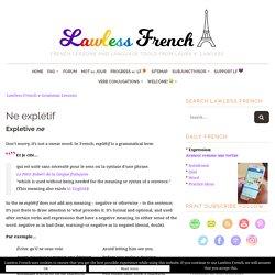Ne explétif - French Negation
