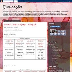 Explicações: Gramática - Orações Coordenadas e Subordinadas