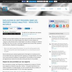 Explication du (not provided) dans les rapports Google Analytics – Résultats naturels