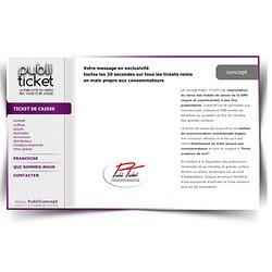Explication du concept publicité sur le ticket