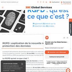 RGPD : explication de la nouvelle réglementation sur la protection des données