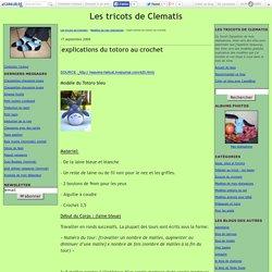 explications du totoro au crochet - Les tricots de Clematis