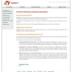 Intranet / Extranet, quelques explications » Kyxar.fr Agence de création de sites internet et développement Intranet / Extranet à Romans sur Isère dans la Drôme