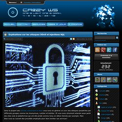 Cr@zy's Website - Explications sur les attaques DDoS et injections SQL