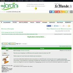 Explications demandées ... : Aux plantes médicinales et utiles