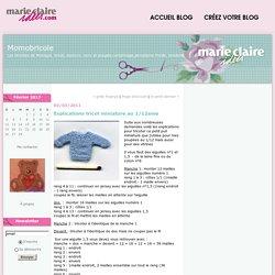 Explications tricot miniature au 1/12eme : Momobricole