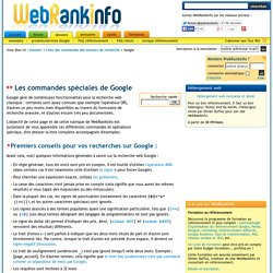 Liste des commandes Google avec explications en français - Opérateurs Google
